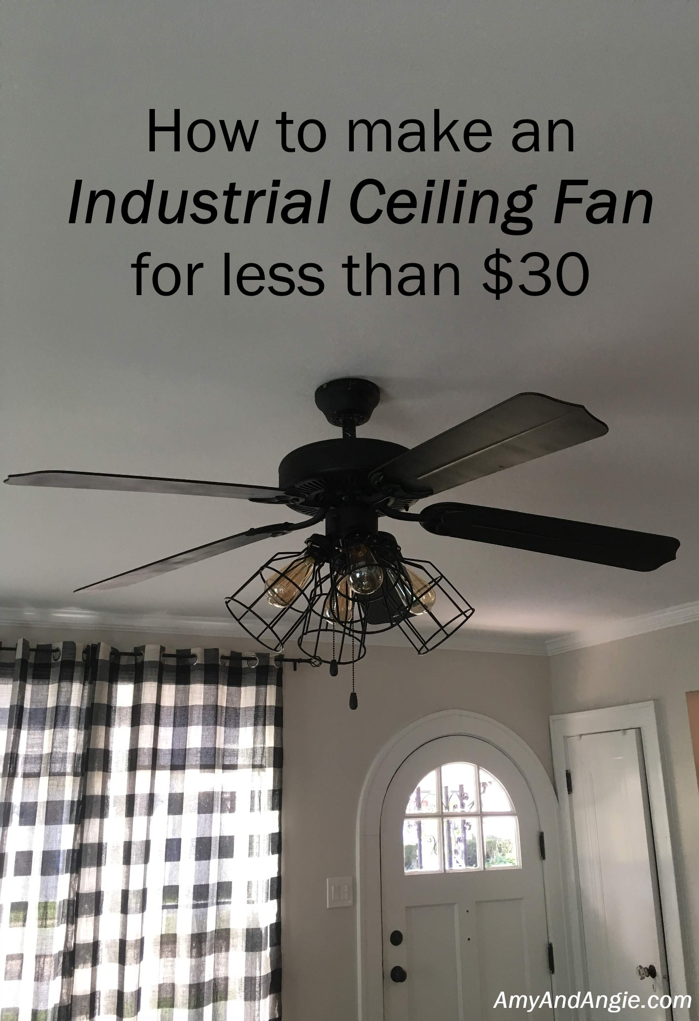 Get The Most Out Of Living Room Ceiling Fan I knew I wanted to have a most industrial looking fan in our living room,  but was decidedly not enjoying the price tags for these guys: